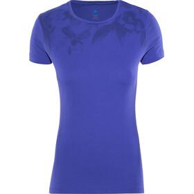 Odlo Signo Camiseta sin mangas cuello crew Mujer, spectrum blue-placed print ss17